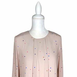 Boden dusty pink polka-dot top blouse 4